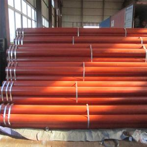 Red painting EN 10025 EN 10219 water /oil pipe ERW welded black steel pipe