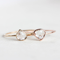 Latest Gold Finger Ring Designer Fashion Jewelry Thin Silver Ring