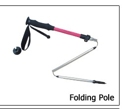 EVA handle 4 section fast lock aluminium7075 nordic hiking pole  22inch to 56 inch retractable folding pole