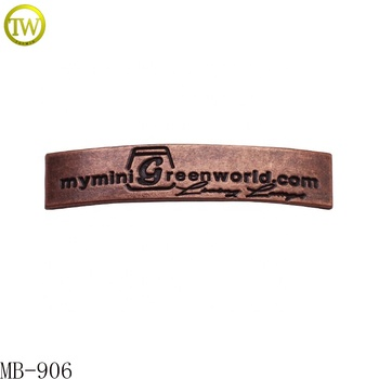 Custom Band Design Antique Copper Engraved Metal Logo Furniture Label