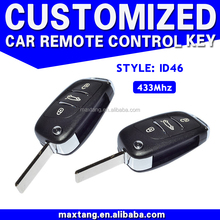Promotional Popular Series Car Remote Key 433Mhz Folding Car Remote Key In Stock 3 Button ID46 For Peugeot Citroen MTF-102526