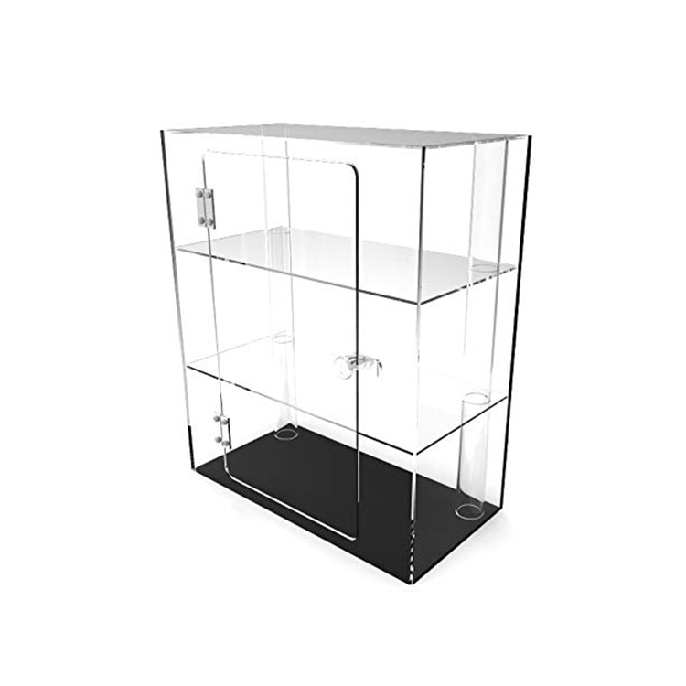 Aangepaste Hoge Kwaliteit Multifunctionele Showcase Clear 3 Layer Acryl Vitrine