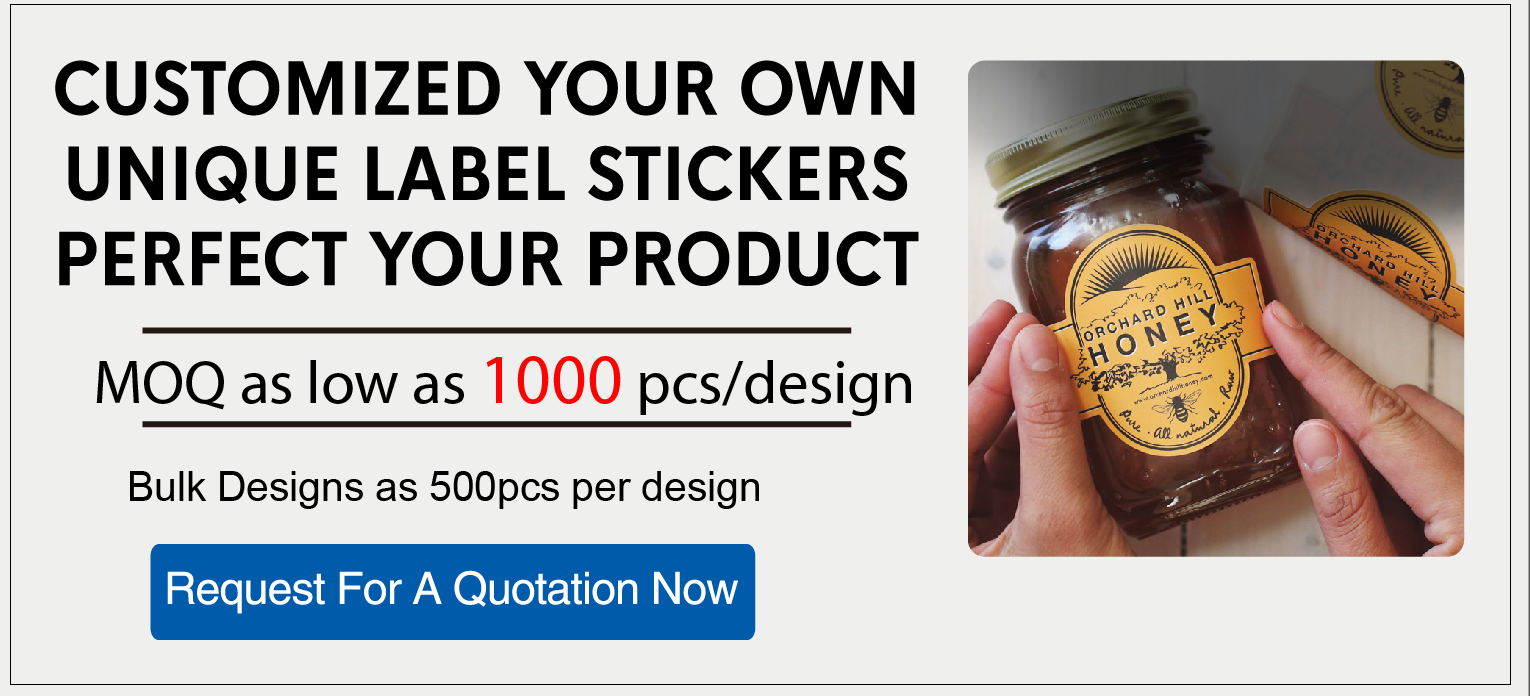 Custom Logo Sticker Paper Printing Gold Foil Stickers