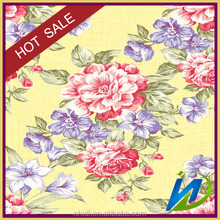 100% cotton material and combed yarn rose pattern printed type fabric