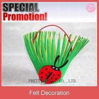 Provide new design felt easter baskets with high quality ,flower shape felt basket