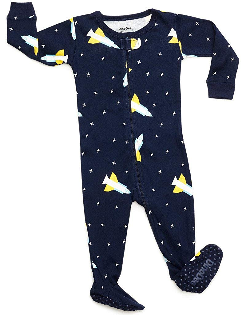 ed03f1d971 Get Quotations · DinoDee Baby Boys Footed Pajamas Sleeper 100% Cotton Kids  Pjs (6 Months-5