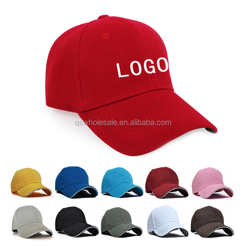 Blank baseball cap customized LOGO snapback 100% cotton hat