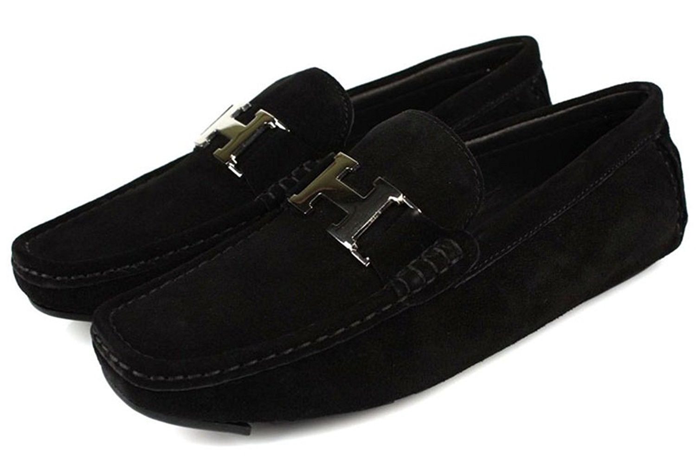 Buy Santimon Mens Leather Slip-on