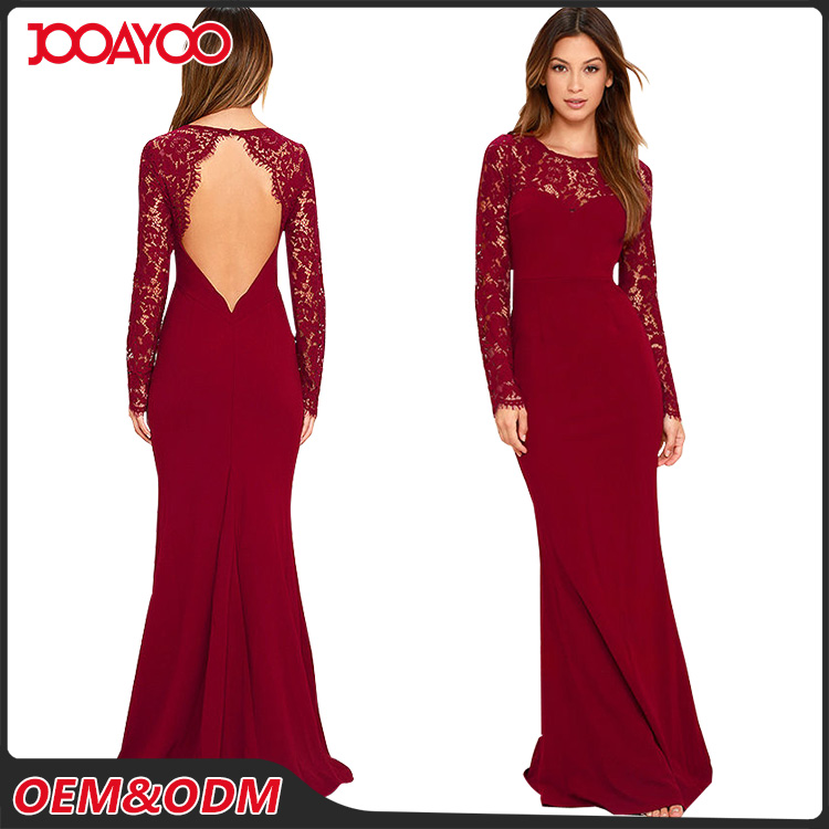 Hottest Women One Piece Lace Maxi Dress Backless Bodycon Woman Maxi Evening Dress