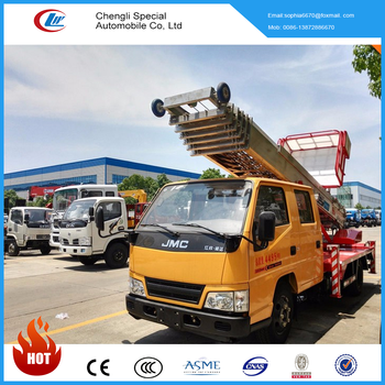 Jmc Double Cabin 28m Aerial Moving Truck Hydraulic Ladder Truck For Hot  Sale - Buy Jmc Aerial Moving Truck,Double Cabin Aerial Platform