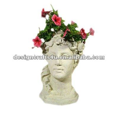 Dekorative Ton Dame Gesicht Grosshandel Kopf Blumentopfe Buy