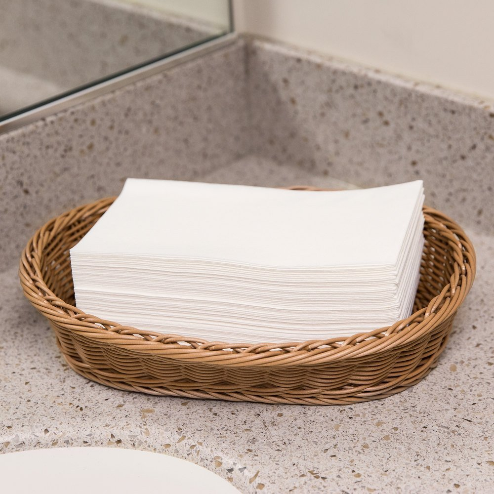 Disposable Cloth-Like Paper Hand Guest Towels – Soft, Absorbent, Air laid Tissue Paper for Kitchen, Bathroom or Events, White Guest Towel (200)