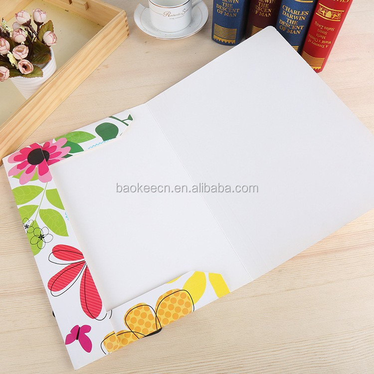 Folder promotional with logo elastic straps folder