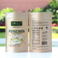 logo customized aluminum plastic walnuts packing bag nuts aluminum foil ziplock zipper for bean agricultural products