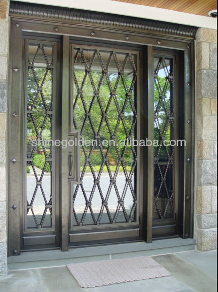 Fashionable Wrought Iron Sliding Door Design Buy Main