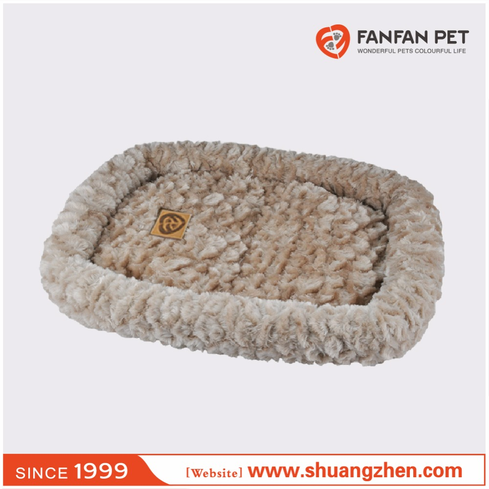 Embossed plush Bumper pet bed dog and cat sleeper