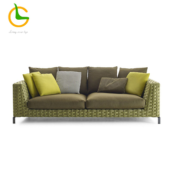 2017 New design cheap modern plastic pe rattan outdoor sofa