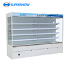 Supersnow Curtain Used Supermarket Commercial Display Refrigerator Price For sale