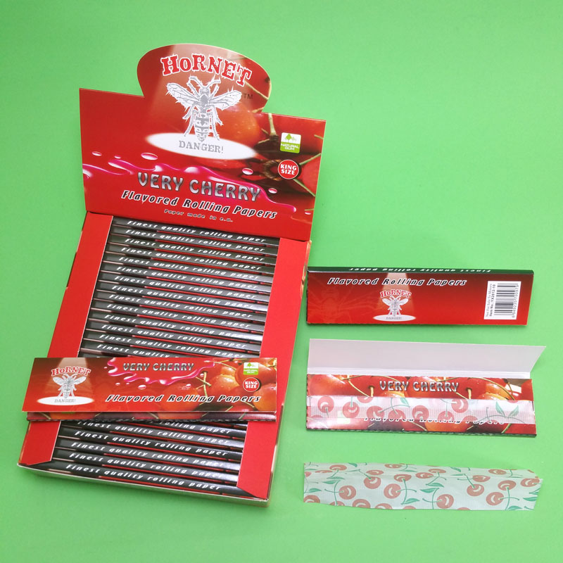 smoking rolling <strong>paper</strong> with fragrance king size cherry flavor organic natural rolling <strong>paper</strong>