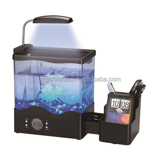 Mini desktop usb aquarium/mini aquarium/led desktop aquarium accessoires