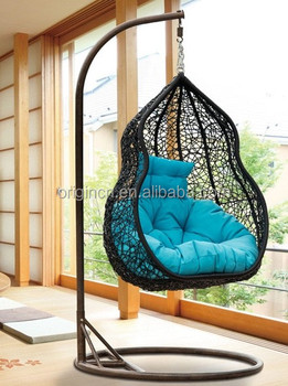 gourd peanut shaped home indoor or outdoor balcony swing furniture