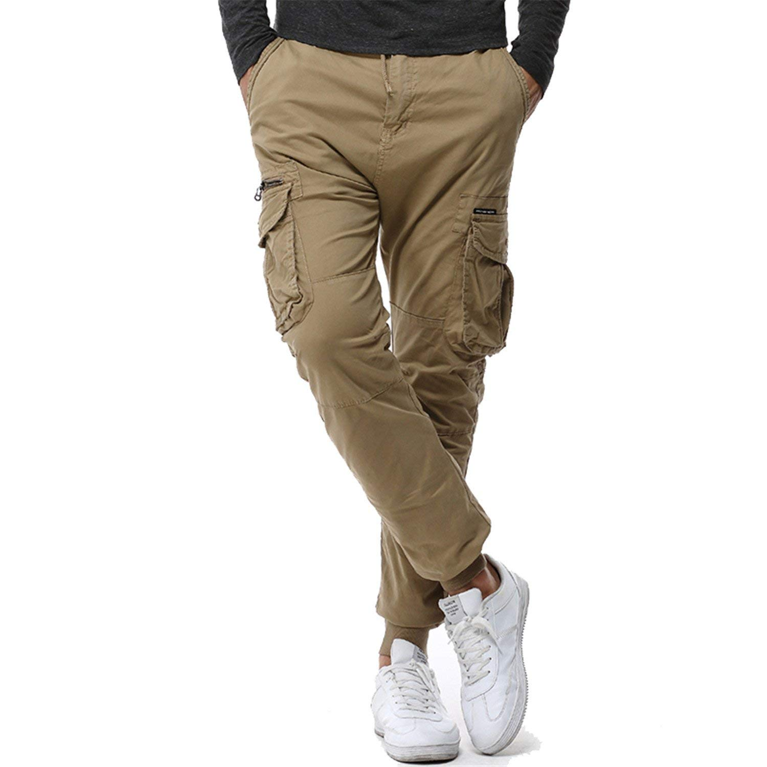 Jeff Tribble Mens Camouflage Tactical Cargo Pants Joggers Boost Military Casual Pants Hip Hop Army Trousers 38