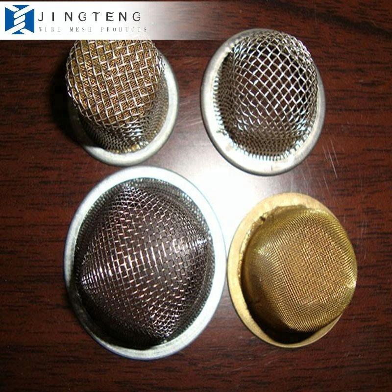 Stainless steel/titanium brass filter wire mesh round/dome shape smoking pipe screens