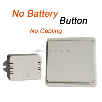 No Battery Operated Light Switch Wireless Remote Control Wall