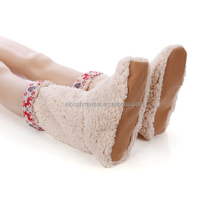 2018 New Design Women National Style Cotton Furry Slipper Boots