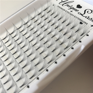 Hot Selling Pre-fanned Knot-free 6D Russian Volume Lashes Extensions Synthetic Mink 2D 3D 4D 5D 6D 7D 8D 9D 10D 20D Lashes