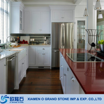 Polished Artificial Red Quartz Stone For Kitchen Table Top Material - Buy  Quartz Stone,Artificial Quartz Stone,Kitchen Table Top Material Product on  ...
