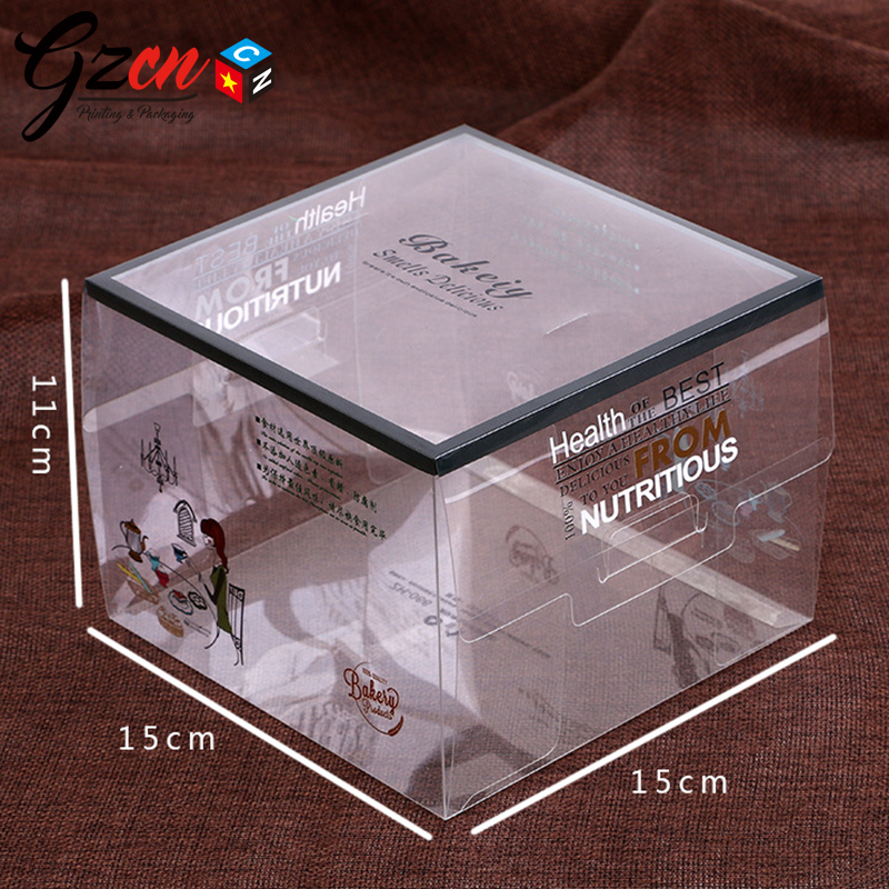 cheap price custom plastic transparent packing electrical with hang hole color pvc box with logo