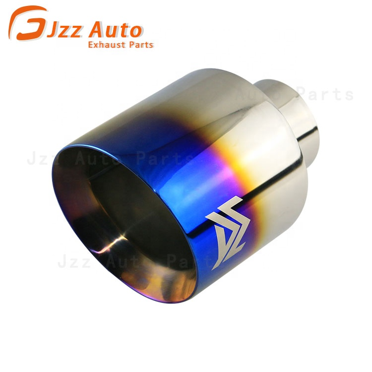 80mm Dia Inlet Stainless Steel Slant Cut Car Exhaust Pipe Tail Gas Piping