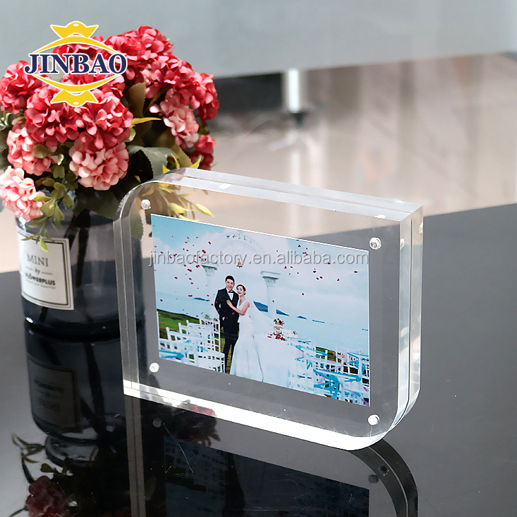 JINBAO Custom acrylic photo frame sexy girl open full picture acrylic for home