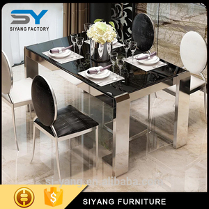 New design machine grade extendable tempered glass kitchen tables of China National Standard