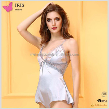 eb53fcafcaf88 Beauty s love sexy lingerie sexy hot intimates red purple satin feel lace  babydoll sexy lingerie nightwear