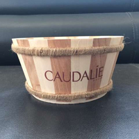 small wooden bucket/antique wood bucket/wood pellet bucket