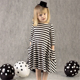 Mother and Daughter striped Shirt dresses family matching clothes Sets