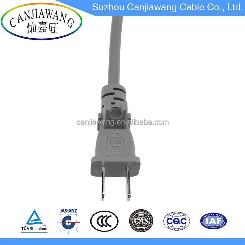 Wholesale US Plug 2 Flat Pin American Plug with Antislip Ring