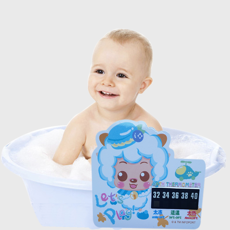 1 P Cartoon LCD Bath Thermometer Infant Baby Bath Water Temperature Digital Bath Thermometer Plastic Temperature