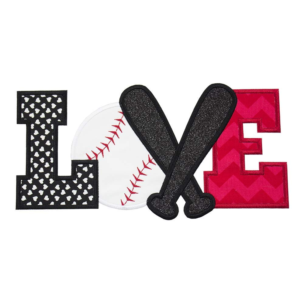 Baseball Love Embroidered Patch - Iron on patch