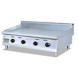 Stainless Steel kitchen equipment gas griddle plate / Natural Gas grill griddle for Restaurant Kitchen