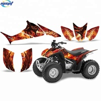 Custom design printed high quality factory price self adhesive die cut shape vinyl decorative stickers for quad bike