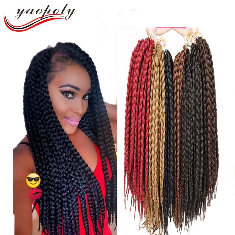 Best Sale 14inch 3x Box Twist Crochet Braiding Hair Synthetic Jumbo