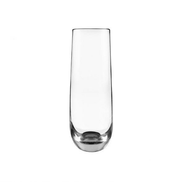 Glass Champagne Flute,Stemless Champagne Glasses, Recyclable Champagne Glass Cup