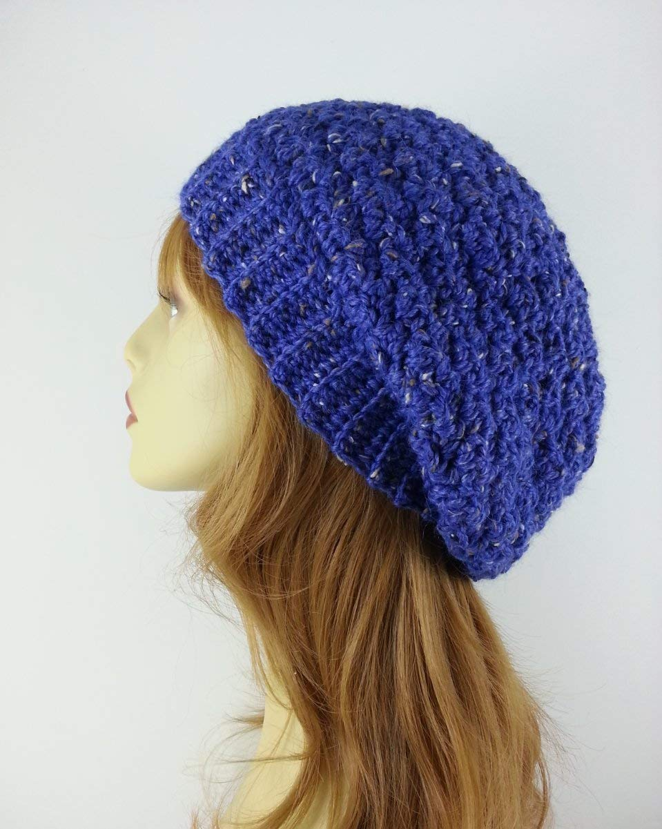 15c5b96d4a7f0 Get Quotations · Winter Hat Slouchy Beanie for Women Alpaca Merino Wool  Cobalt Blue Made in USA