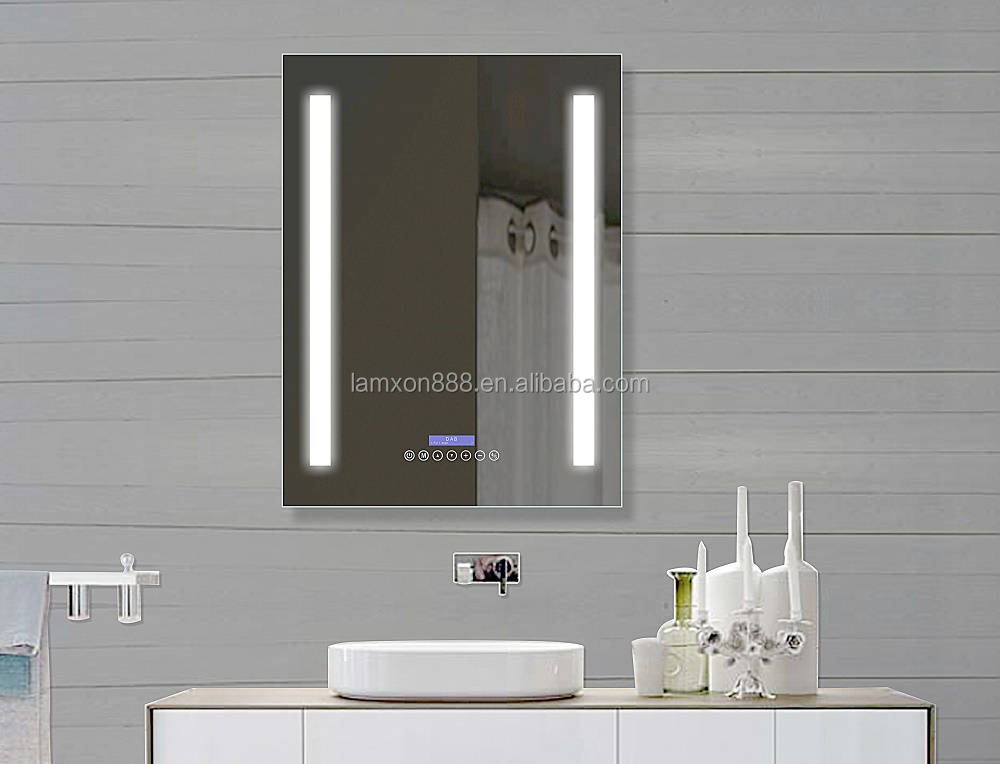 Dab Fm Led Light Bathroom With Radio Mirror - Buy High ...