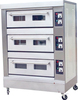 Commercial bakery machine three layers electric /gas deck baking oven bread oven