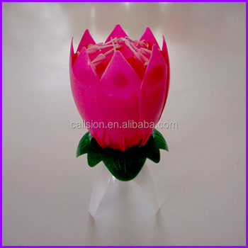 Wholesale Lotus Music Birthday Candles With Firecracker