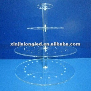 Tiers Acrylic cupcake and cake tower display stand Clear Acrylic Popcake Display Stand